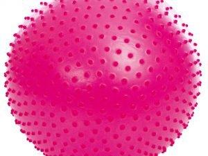 Мяч для фитнеса (фитбол) полумассажный 2в1 65см Zelart (PVC, 1100г, ABS, цвета в ассортименте)