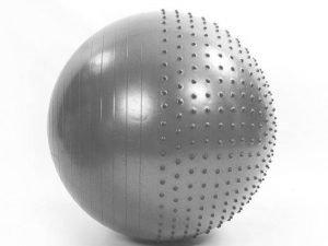 Мяч для фитнеса (фитбол) полумассажный 2в1 75см Zelart (PVC, 1300г, ABS, цвета в ассортименте) - Цвет Серый