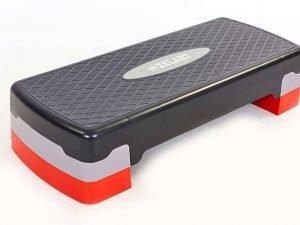 Степ-платформа (пластик, покрытие TPR, р-р 68Lx28Wx10H+5см, черный)
