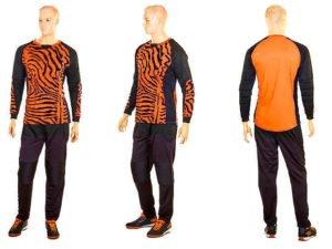 Форма футбольного вратаря (PL, р-р L-XXXL, оранжевый-черный) - 2XL (52-54)