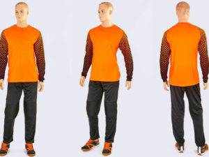 Форма футбольного вратаря FIRST (PL, р-р L-XXL, оранжевый) - 2XL (52-54)