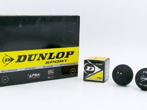 Мяч для сквоша DUNLOP (1шт) REVELATION PRO DOUBLE DOT (резина, черный)