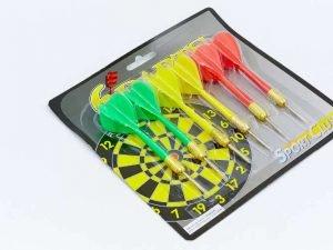 Дротики для игры в дартс каплевидные 6шт Baili (латунь, пластик, вес 6г)