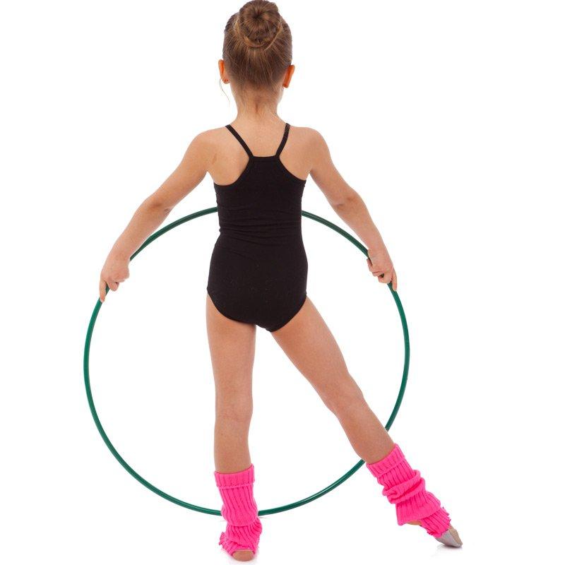 Купальник гимнастический на бретелях SP-Planeta размер 32-42 рост 122-164см черный