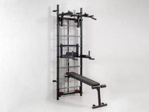 Профессиональная система эспандеров со скамьей для пресса и спины Кросс-тренер Full (металл, 80х234х69 см)