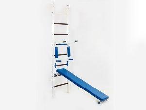 Шведская стенка с турником, брусьями,  скамьей для пресса и спины Тонус 3 (СТ Тонус 3) (металл, 66х227х56 см)
