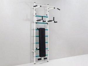 Шведская стенка со скамьей для пресса Лидер (СТ Лидер) (металл, пластик, 64х227х56 см)
