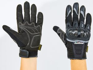 Мотоперчатки текстильные с закрытыми пальцами и протектором MADBIKE (р-р M-2XL, черный) - M