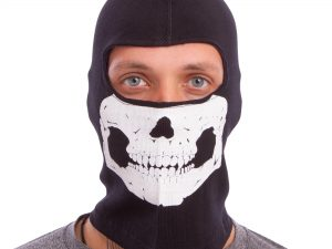 Подшлемник балаклава Скелет Skull (коттон, черный)