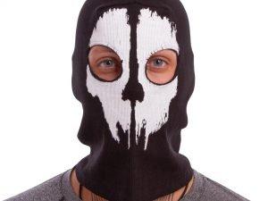 Подшлемник балаклава-маска Скелет Horror (коттон, черный)