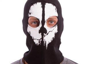 Подшлемник балаклава-маска Скелет Ghost (коттон, черный)