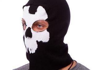 Подшлемник балаклава-маска Скелет Mastermind (коттон, черный)