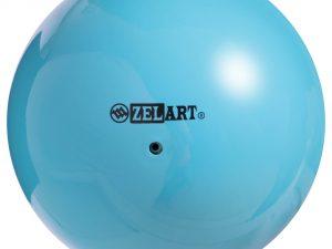 Мяч для художественной гимнастики 15см Zelart (PVC, d-15см, 240гр,цвета в ассортименте) - Цвет Голубой