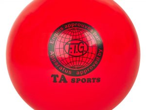 Мяч для художественной гимнастики 20см TA SPORT (PVC, d-20см, 400гр, цвета в ассортименте) - Цвет Красный