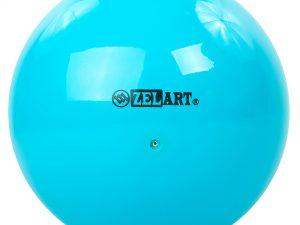 Мяч для художественной гимнастики 20см Zelart (PVC, d-20см, 430гр, цвета в ассортименте) - Цвет Бирюзовый