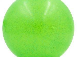 Мяч для художественной гимнастики блестящий 15см Lingo Галактика (PVC, d-15см, 280гр, цвета в ассортименте) - Цвет Зеленый