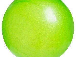 Мяч для художественной гимнастики блестящий 20см Lingo Галактика (PVC, d-20см, 400гр, цвета в ассортименте) - Цвет Зеленый