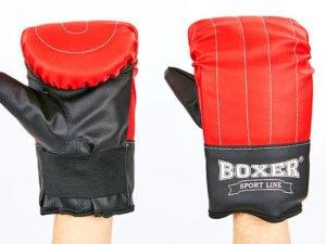 Снарядные перчатки Кожвинил BOXER Тренировочные (р-р L, красный)