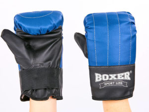Снарядные перчатки Кожвинил BOXER Тренировочные (р-р L, синий)