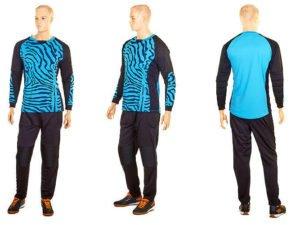 Форма футбольного вратаря юниорская (PL, р-р S-M-42-46(28-30), синий-черный) - S (42-44)