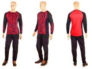 Форма футбольного вратаря юниорская (PL, р-р S-M-42-46(28-30), красный-черный) - S (42-44)