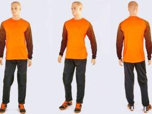 Форма футбольного вратаря юниорская SOURCE (PL, р-р S-M-42-46(28-30), оранжевый-черный) - M (44-46)