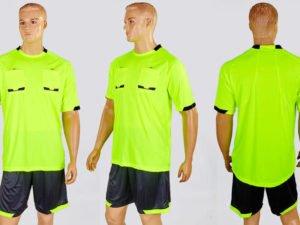 Форма футбольного судьи (полиэстер, р-р L-2XL, салатовый, шорты черные) - L (48)