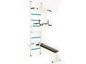 Шведская стенка со скамьей для пресса и спины Стойка (СТ) (металл, 139x227x115 см)