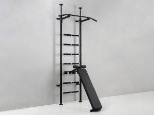 Шведская стенка со скамьей для пресса и спины Sport Power Lux (СТП-lux)  (металл, 217х66х40 см)