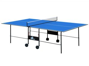 Стол теннисный GSI-Sport (Gk-2) (складной,ДСП толщина16мм, металл, размер 2,74х1,52х0,76м,сетка, синий)