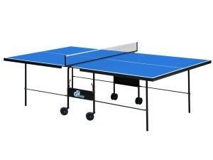 Стол теннисный GSI-Sport (Gk-3) (складной,ДСП толщина16мм, металл, размер 2,74х1,52х0,76м, сетка, синий)