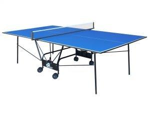 Стол теннисный GSI-Sport (Gk-4) (складной,ДСП толщина16мм, металл, размер 2,74х1,52х0,76м, сетка, синий)