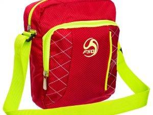 Сумка вертикальная маленькая через плечо 23х18х7,5см F50 (полиэстер, цвета в ассортименте) - Цвет Красный