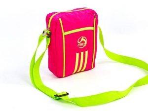 Сумка вертикальная маленькая через плечо 23х18х7,5см F50 (полиэстер, цвета в ассортименте) - Цвет Розовый