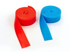 Жгут эластичный спортивный, лента жгут VooDoo Floss Band (латекс,l-2,5м, 3смx2мм,син,кр)