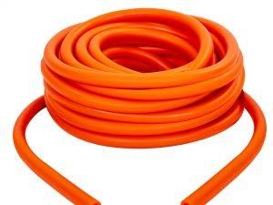 Жгут эластичный трубчатый спортивный (латекс, d-6 x 10мм, l-1000см, оранжевый)