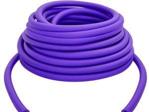 Жгут эластичный трубчатый спортивный (латекс, d-6 x 11мм, l-1000см, фиолетовый)