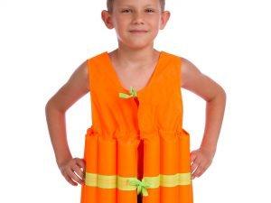 Жилет спасательный детский (EPE, PL, р-р L-11-14лет, цвета в ассортименте) - Цвет Оранжевый
