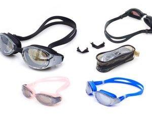 Очки для плавания LEGEND RACING (поликарбонат, силикон, зеркальные, цвета в ассортим)