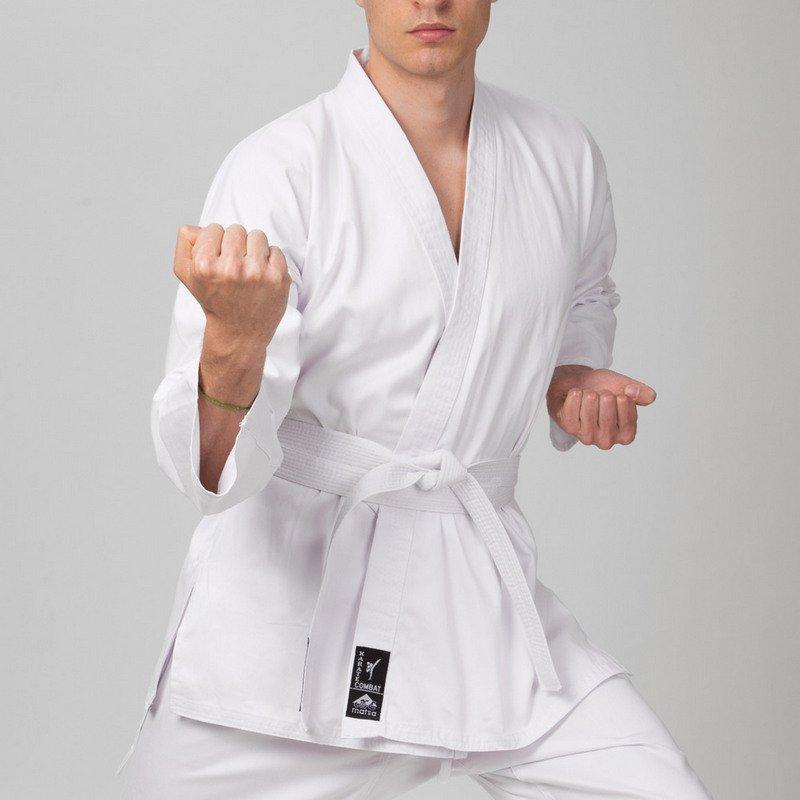 Куртка для каратэ MATSA (хлопок-плотность 240г на м2, размер 000-6, рост-110-190см, белый)
