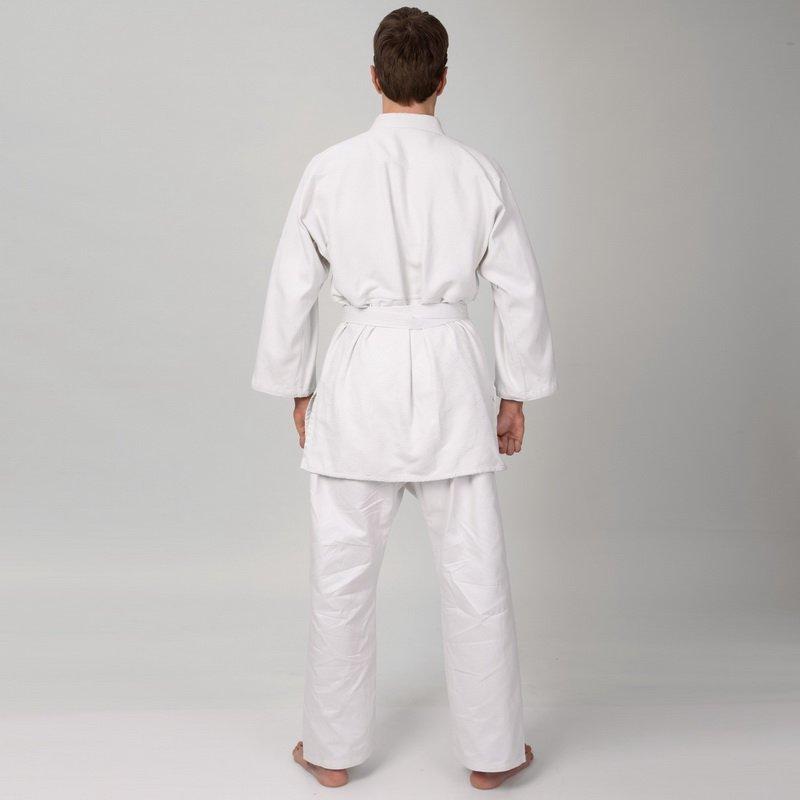 Штаны для дзюдо MATSA (хлопок-плотность 450г на м2, размер 000-7, рост-110-200см, белый)