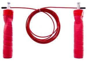Скакалка скоростная Кроссфит с подшипником и стальным тросом (l-3м, d-2мм, красный)