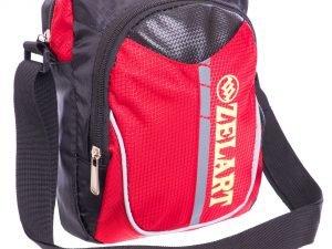 Сумка вертикальная маленькая через плечо 23х18х7,5см Zelart (полиэстер, цвета в ассортименте) - Цвет Красный