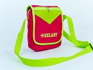 Сумка вертикальная маленькая через плечо 23х18х7,5см Zelart (полиэстер, цвета в ассортименте) - Цвет Розовый