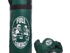 Боксерский набор детский (перчатки+мешок) SP-Planeta (PVC, размер L, мешок h-52см, d-20см, цвета в ассортименте) - Цвет Зеленый