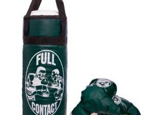 Боксерский набор детский (перчатки+мешок) SP-Planeta (PVC, размер M, мешок h-42см, d-18см, цвета в ассортименте) - Цвет Зеленый