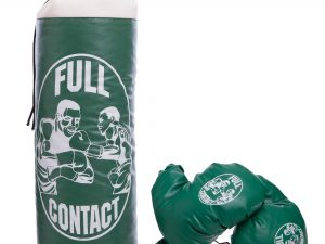 Боксерский набор детский (перчатки+мешок) SP-Planeta (PVC, размер S, мешок h-39см, d-14см, цвета в ассортименте) - Цвет Зеленый