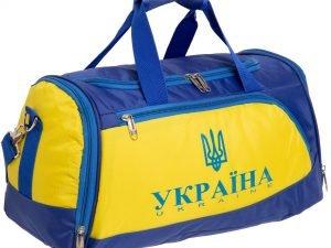 Сумка для спортзала Украина (полиэстер, р-р 50x26x23см, синий-желтый)