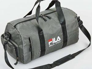 Сумка для спортзала FILA (полиэстер, р-р 46x25x20см, цвета в ассортименте) - Цвет Серый