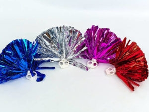 Помпоны для черлидинга и танцев Pom-Poms (полиэстер, пластик, d-23см с захватами-кольцами, 2шт, 30г, цвета в ассортименте)